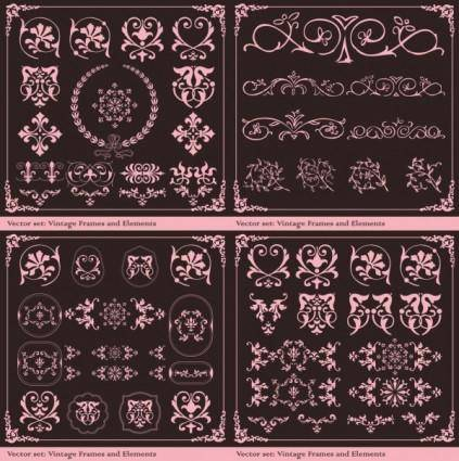 European retro patterns vector