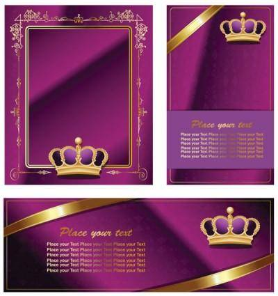 free vector Crown retro decorative pattern vector