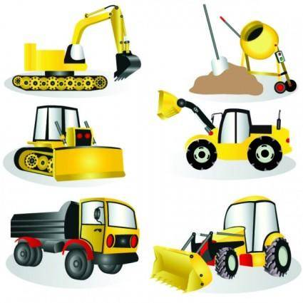 free vector Construction site equipment vector