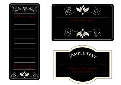 Europeanstyle simple patterns invitation card 01 vector