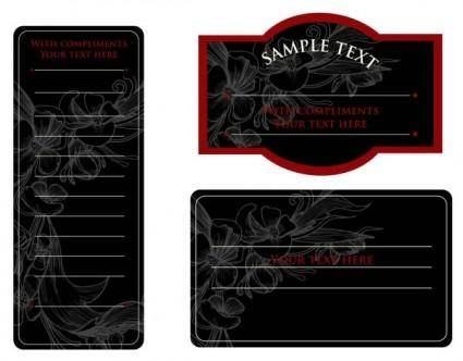 free vector Europeanstyle simple patterns invitation card 03 vector