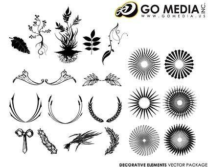 free vector Go media produced vector continental lace pattern with circular