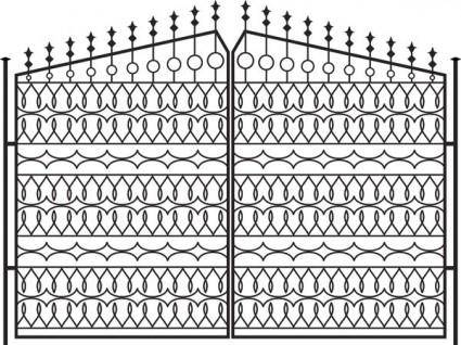 Europeanstyle iron wall pattern 01 vector
