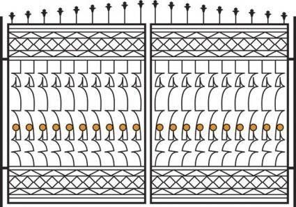 free vector Europeantype pattern iron fence 04 vector