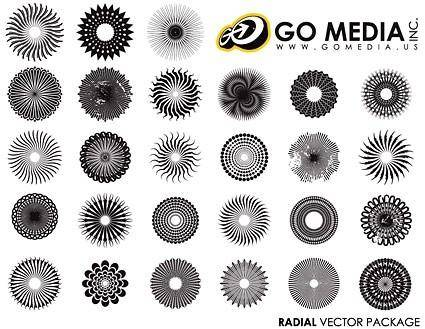 free vector Go media produced vector circular pattern