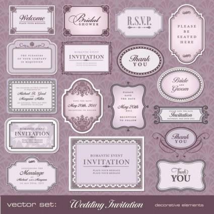 free vector European pattern bottle label 02 vector