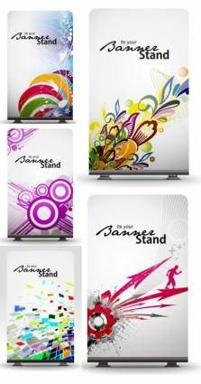 Dynamic elements of fine patterns boards vector