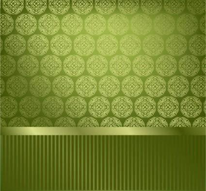 free vector Classic pattern wallpaper 03 vector