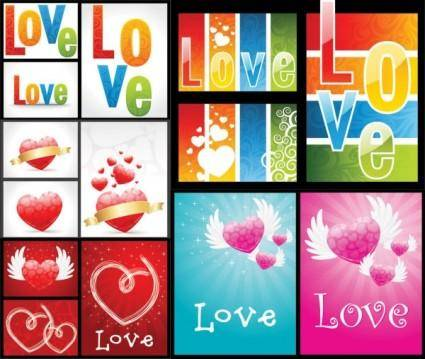 free vector Love the gorgeous pattern vector