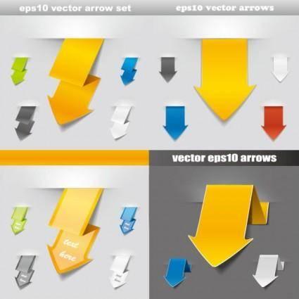 Origami arrow 02 vector