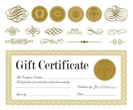 free vector European pattern certificate 03 vector