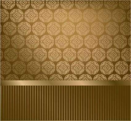 free vector Classic pattern wallpaper 02 vector