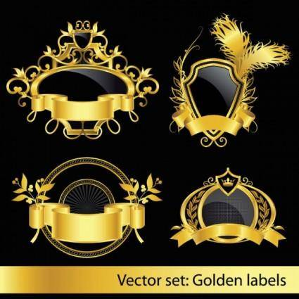 free vector European classic pattern of label 01 vector