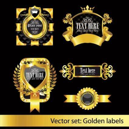 free vector European classic pattern label 02 vector
