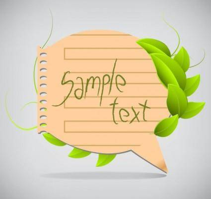 Leaves the dialog box 02 vector