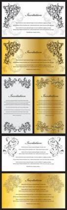 European gorgeous certificate template pattern vector