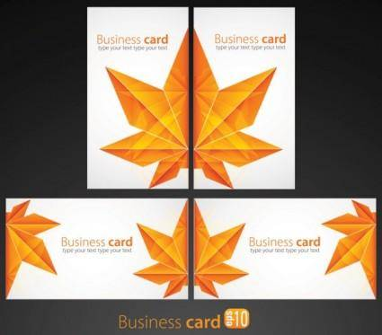 free vector Leaf pattern card 02 vector