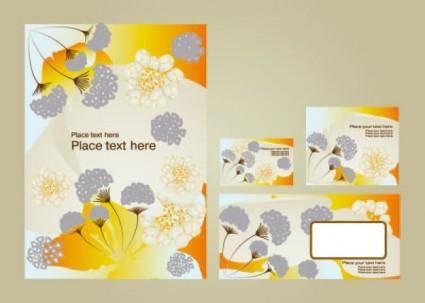 Fine pattern business card template 02 vector