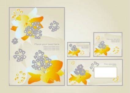 free vector Fine pattern business card template 03 vector