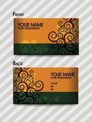 free vector Fashion pattern business card template 03 vector