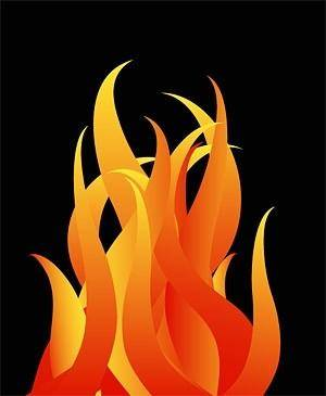 Cool fire pattern vector