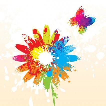 Splash of color pattern 03 vector