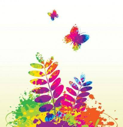 Splash of color pattern 02 vector