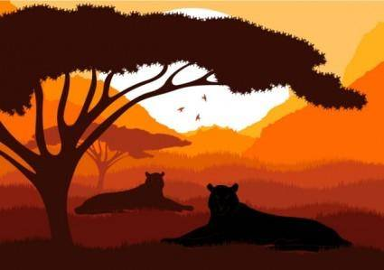 Animal silhouette pattern 05 vector