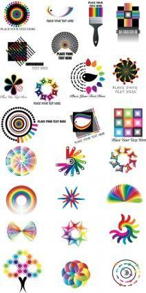 free vector Dynamic color logo pattern vector