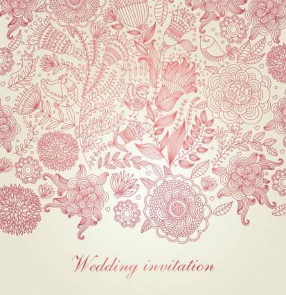 Classical floral pattern 05 vector