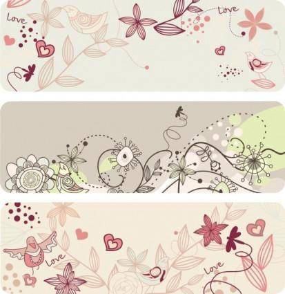 free vector Elegant lines of floral pattern vector