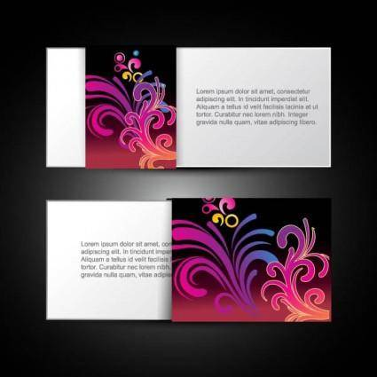 free vector Brilliant dynamic pattern card 04 vector