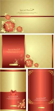 free vector Fine pattern cards vector