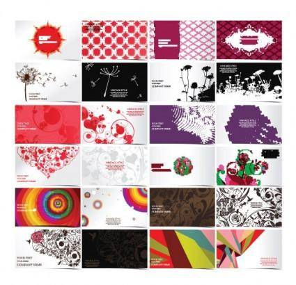 24 exquisite fashion pattern business card template 01 vector