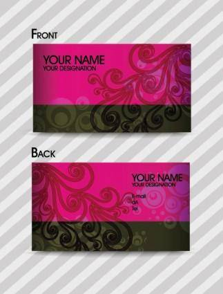 free vector Fashion pattern business card template 02 vector