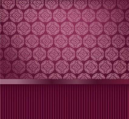 Classic pattern wallpaper 01 vector