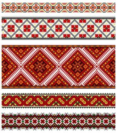 free vector Beautiful national dress pattern 01 vector