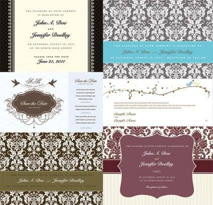 Westernstyle wedding pattern vector