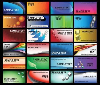 Color pattern card vector