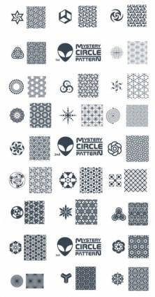 Variety of tile pattern vector