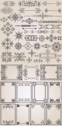 free vector Classic european pattern vector