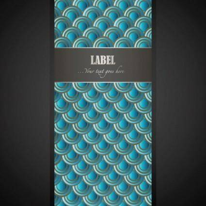 free vector Wave pattern vector label