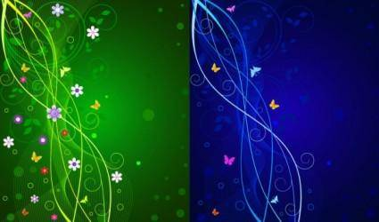free vector Dynamic lines of the butterfly pattern vector