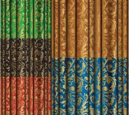 free vector Gold fabric pattern vector