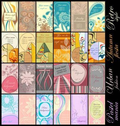 free vector Warm alternative pattern card vector