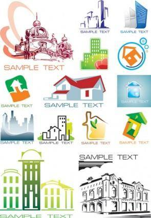 free vector Pattern vector the house subject