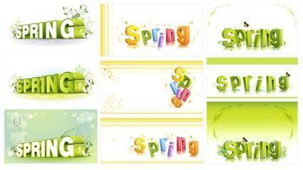 Threedimensional word pattern vector spring