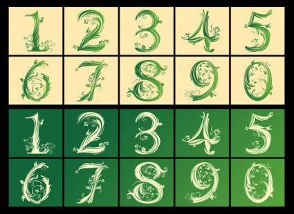 free vector Arabic numerals pattern vector