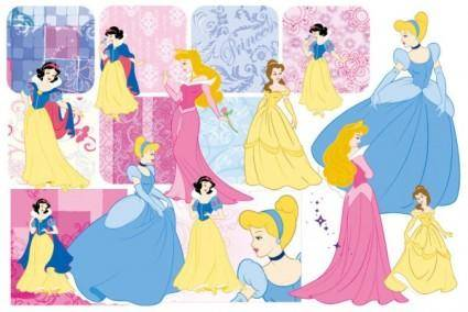 free vector Snow white and the pattern vector 2