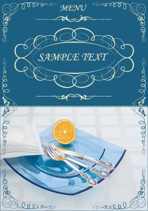 Lace pattern vector tableware